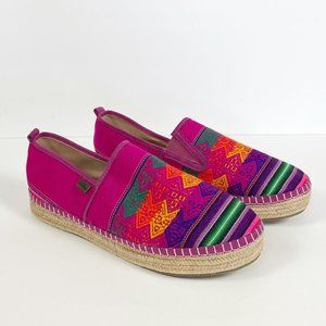 Inkkas Pink Embroidered Peru Espadrille Shoes 10